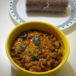 kadala curry, kerala kadalai curry, kerala puttu, puttu side dish