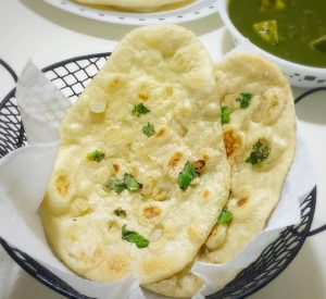 garlic naan, naan, north indian food, naan with yeast, tava naan, yeast