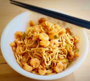 garlic shrimp noodles recipe