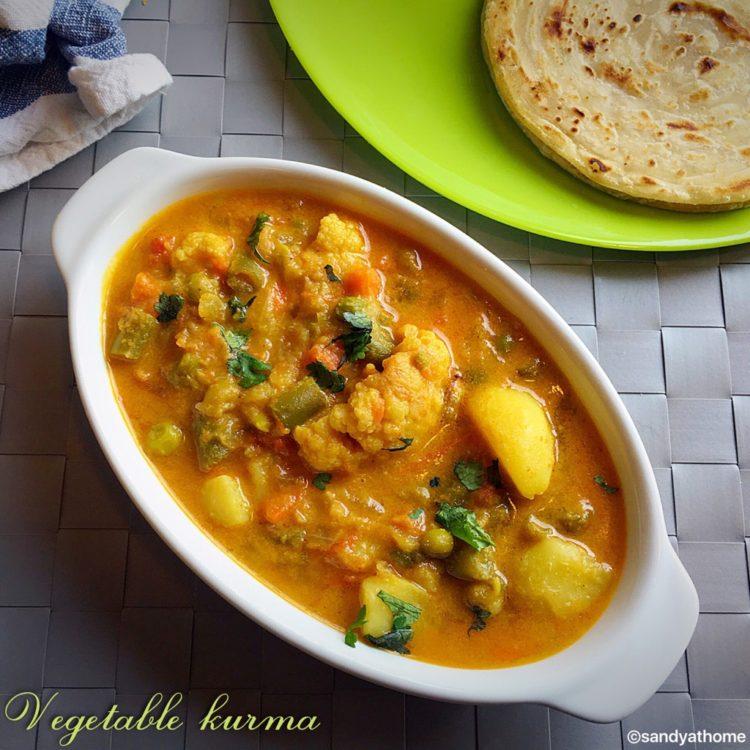 vegetabel kurma, veg kurma recipe,mix veg kurma recipe,saravana bhavan style veg kurma,saravana bhavan style kurma,side dish for parotta, side dish for chapati,south indian dinner recipes,south indian lunch recipes