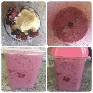 Fruit yoghurt popsicle