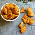 Whole wheat carrot chips