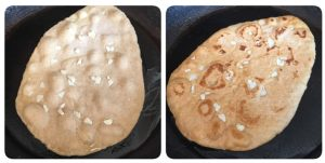 Oats garlic naan