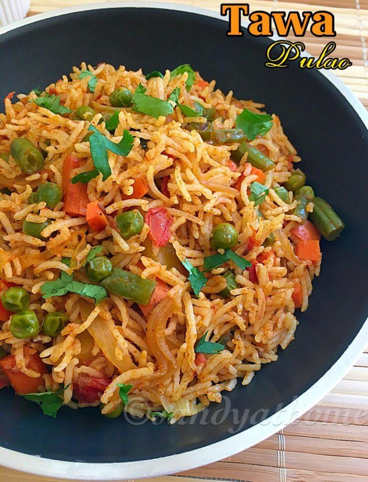 Tawa Pulao Recipe How To Make Tawa Pulao Sandhya S Recipes