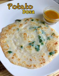 potato dosa