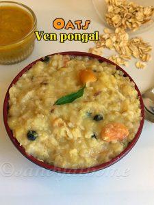 oats ven pongal