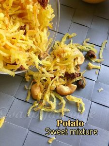 Potato sweet mixture