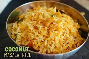 Coconut masala rice
