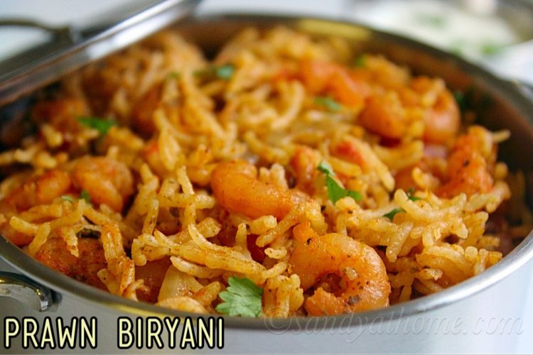 Prawn Biryani Pressure Cooker Prawn Biryani Recipe Sandhya S Recipes