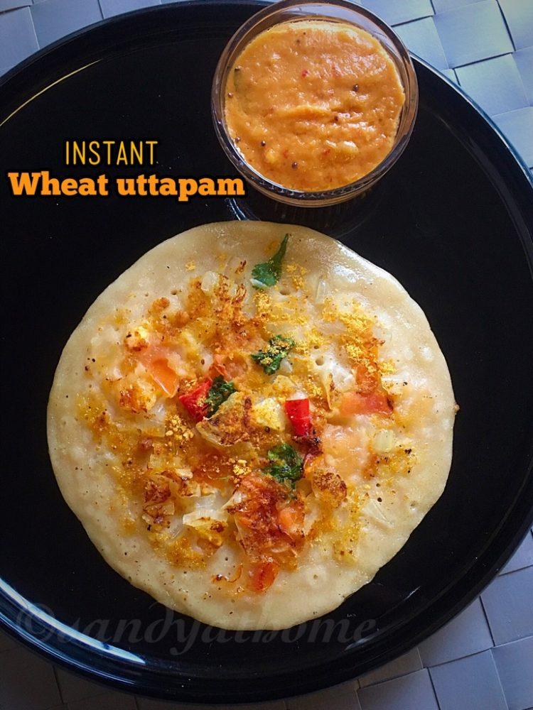 wheat uttapam