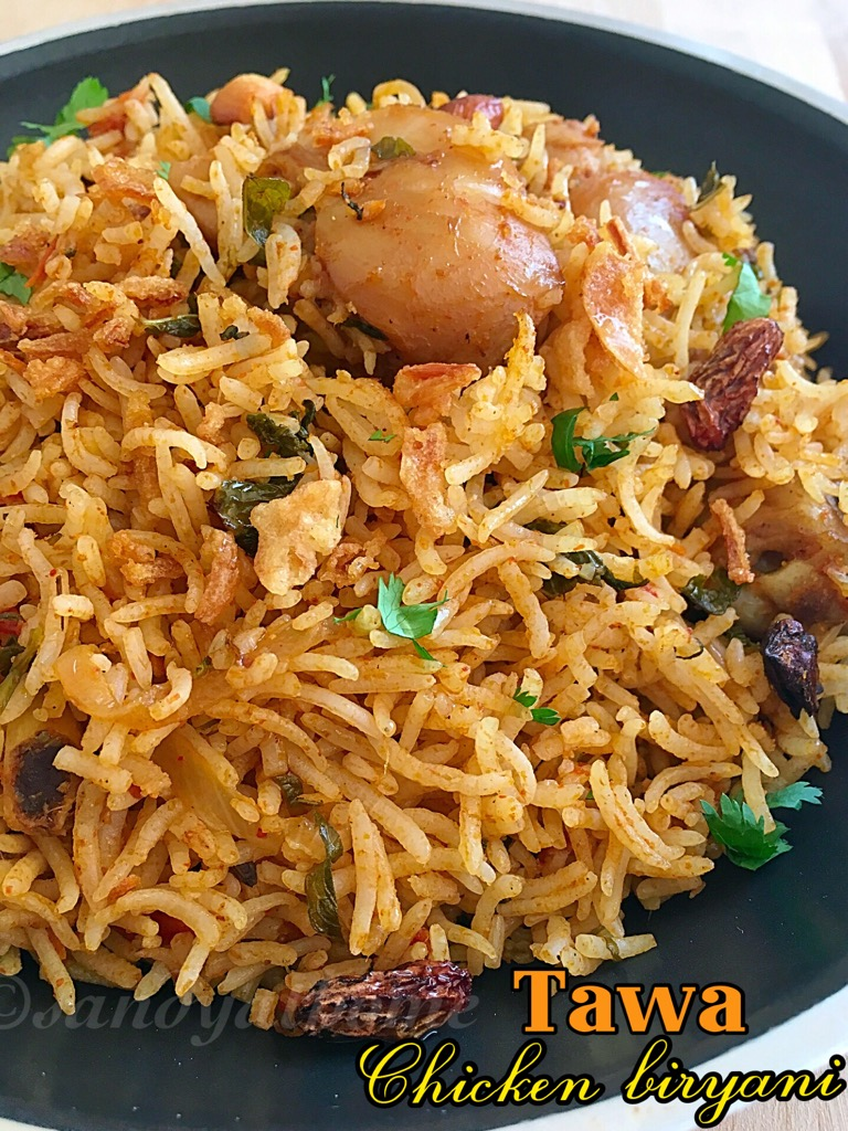 tawa chicken biryani