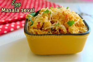 Egg masala sevai