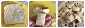 Aloo bread upma