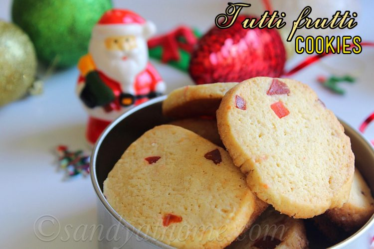 Tutti frutti cookies, Fruit cookies recipe