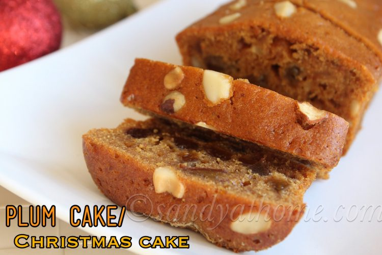 Plum cake recipe (without alcohol), Christmas cake
