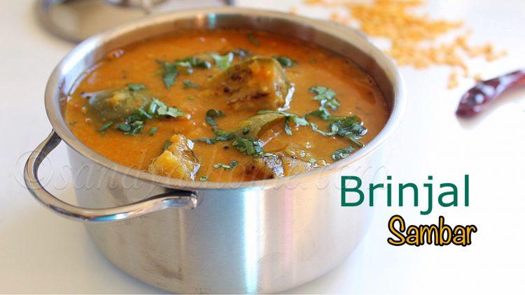 brinjal sambar