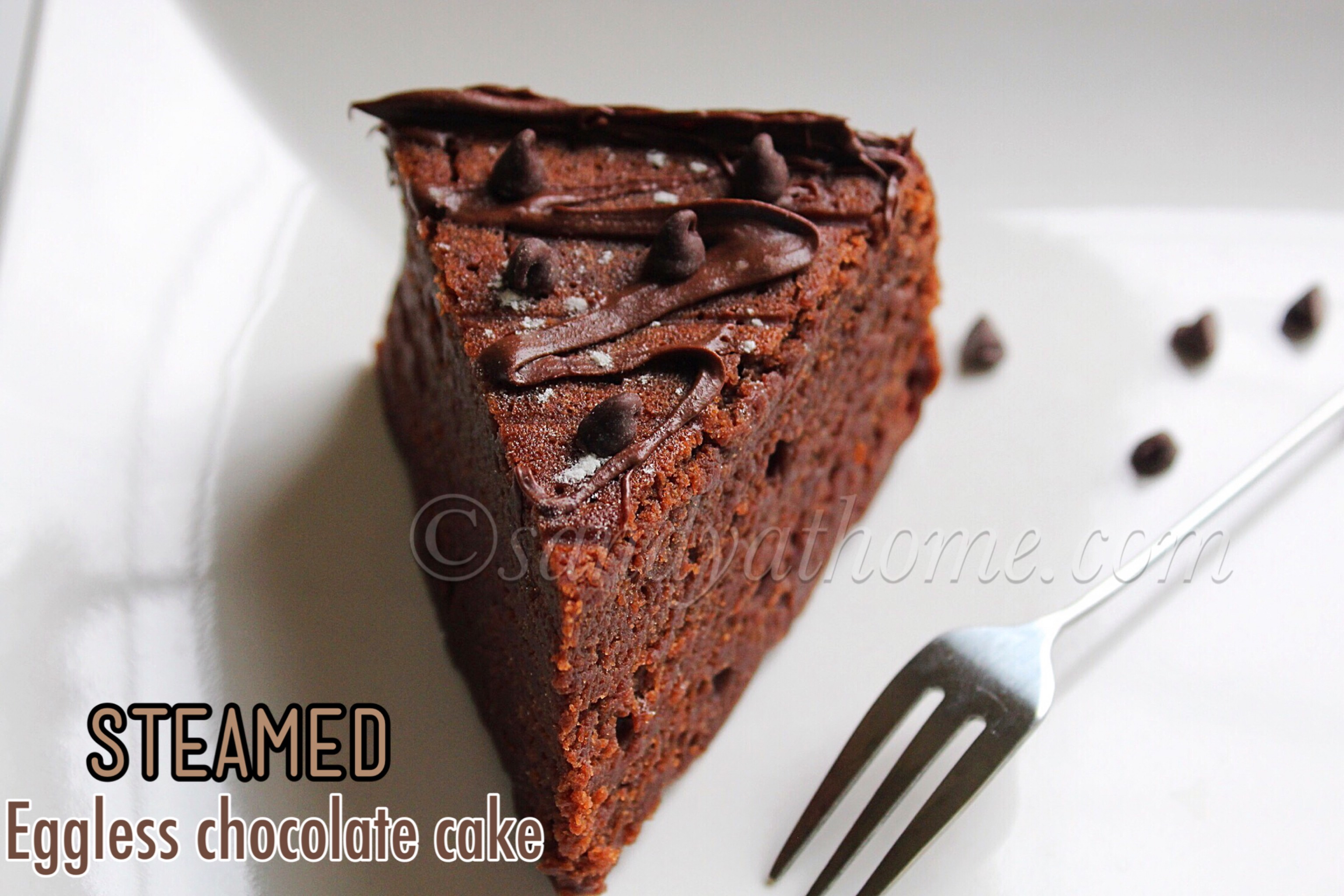 how to make eggless chocolate cake at home