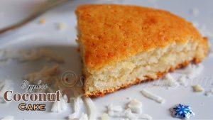 eggless coconut cake