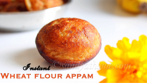 instant wheat flour appam