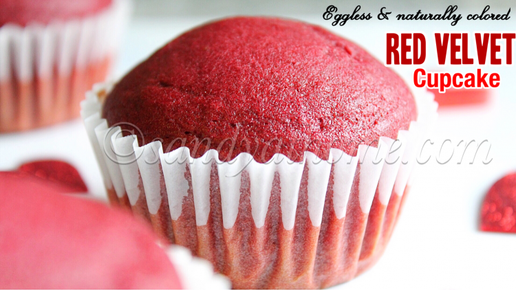 Red Velvet Cupcake Recipe Eggless Naturally Colored