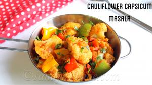 cauliflower capsicum masala