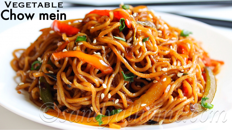 Vegetable chow mein recipe, Veg chow mein | Sandhya's recipes