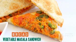 bread vegetable masala sandwich