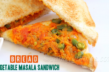 bread vegetable masala sandwich
