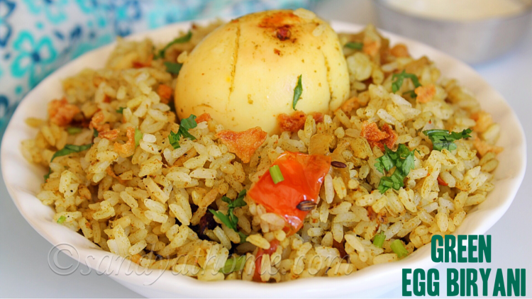 green egg biryani