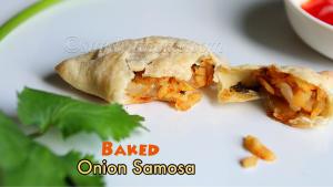 baked onion samosa