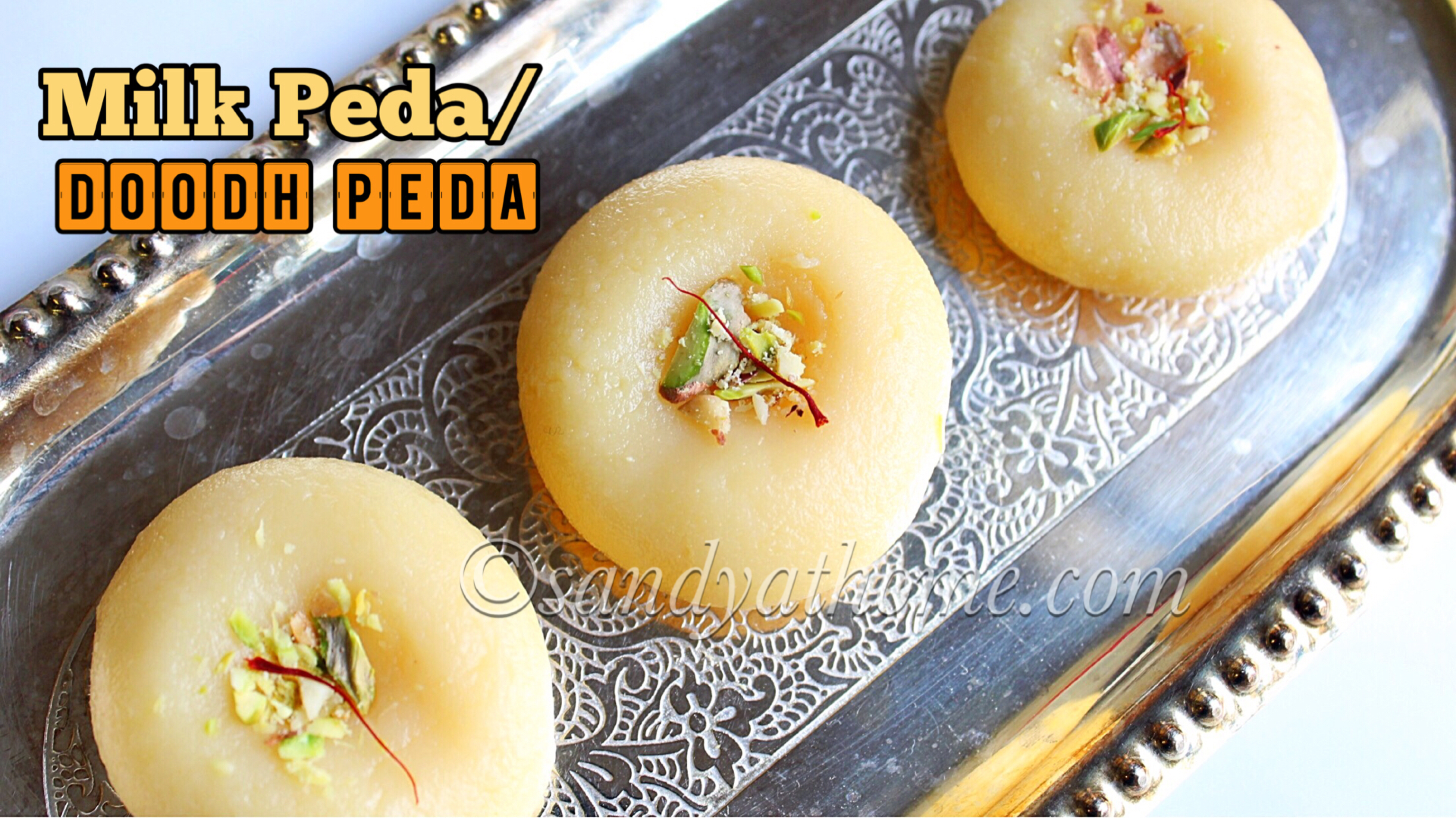 how to make doodh peda at home