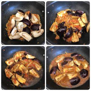 Brinjal curry for biryani