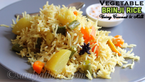 vegetable brinji rice