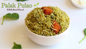 spinach pulao