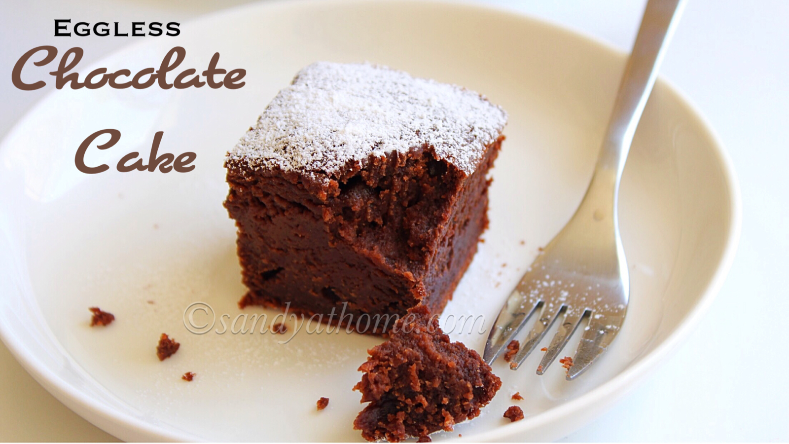 Instant Eggless Chocolate Cake Recipe
