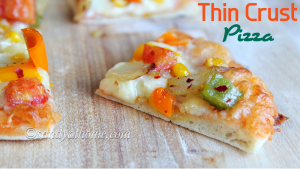 veg thin crust pizza