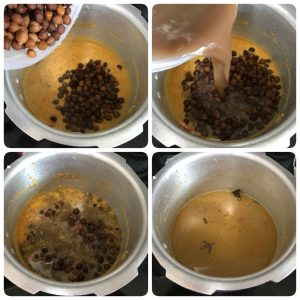 black channa kurma