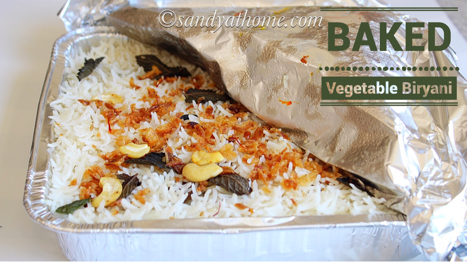 baked vegetable biryani recipe, vegetable biryani, biryani