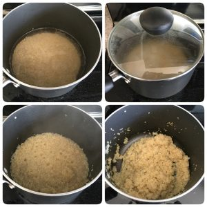cook quinoa for curd quinoa