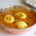 egg kurma recipe, muttai kurma, kurma, egg korma