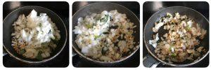 saute onions for egg paniyaram