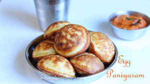 egg paniyaram recipe
