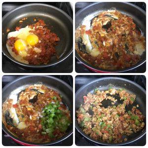 scramble egg for egg pasta