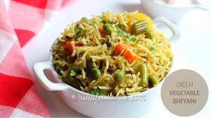 green vegetable biryani
