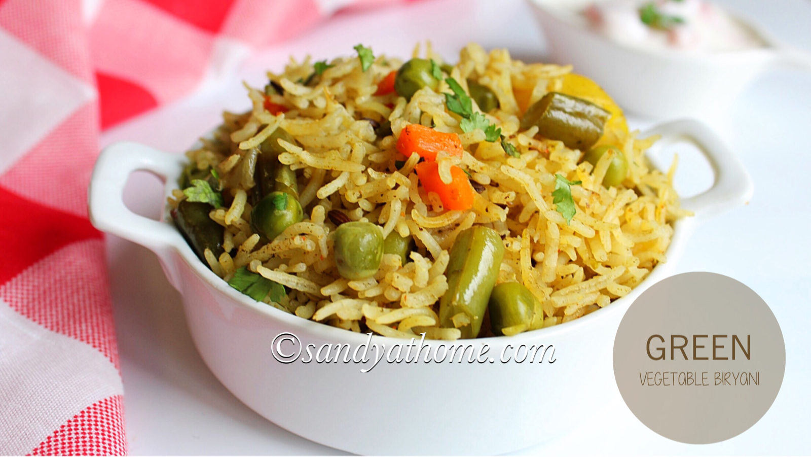 Green Vegetable Biryani Recipe Green Biryani Sandhya S Recipes