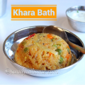 khara bath recipe, khara bath, masala bhath, rava bhath, south indian breakfast