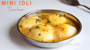 mini sambar idli recipe
