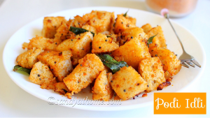 podi idli recipe, podi idli, spicy idli, idli, how to make podi idli