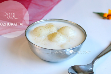paal kozhukattai recipe, milk kozhukattai recipe