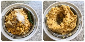 grind channa dal for vada curry